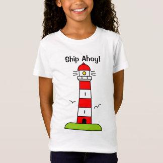Leuchtturm-Cartoont-shirt für Kind| Schiff ahoi! T-Shirt