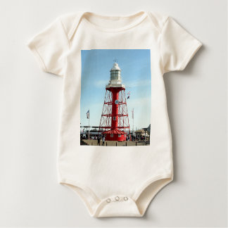 Leuchtturm, Hafen Adelaide, Australien Baby Strampler