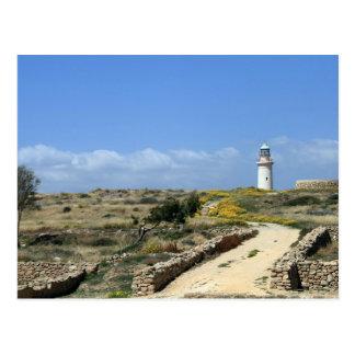 Leuchtturm in Paphos Postkarte