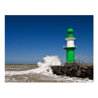 Leuchtturm in Warnemuende auf der Ostseeküste Postkarte