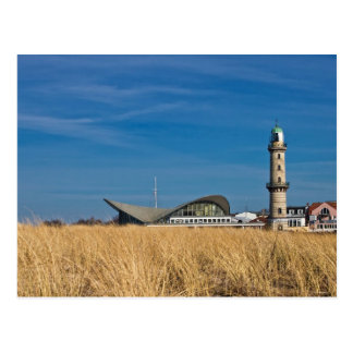 Leuchtturm in Warnemuende (Deutschland) Postkarte