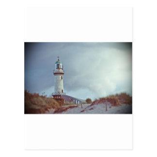 Leuchtturm in Warnemuende in Deutschland Postkarte