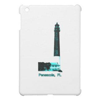 Leuchtturm Pensacola FL cyan-blau das MUSEUM iPad Mini Hülle