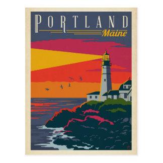 Leuchtturm Portlands, Maine | Postkarte