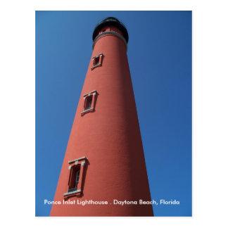 Leuchtturm-Postkarten-Foto Florida Daytona Beach F
