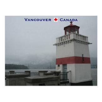 Leuchtturm-Stanley-Park Vancouver Kanada Postkarte