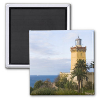 Leuchtturm Tangers Marokko an der Kappe Spartel Quadratischer Magnet