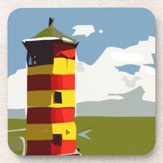 Leuchtturm-Turm Getränkeuntersetzer
