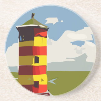 Leuchtturm-Turm Sandstein Untersetzer