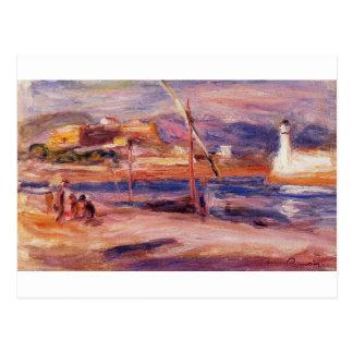 Leuchtturm und Fort Carre Antibes durch Postkarte