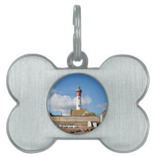 Leuchtturm und Strand von Ouistreham in Frankreich Tiermarke