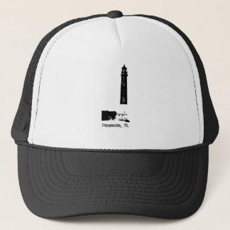 Leuchtturm-Weiß Pensacola FL der MUSEUM Zazzle Gi Truckerkappe