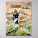 Leuchtturmmalerei St Augustine Florida Plakatdrucke