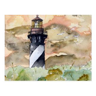 Leuchtturmmalerei St Augustine Florida Postkarte