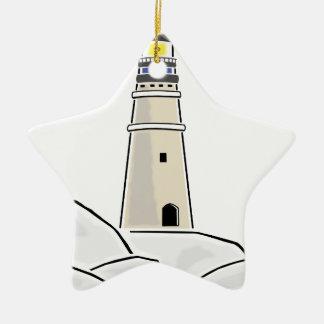 LeuchtturmStandmodell Keramik Ornament