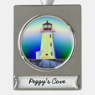Leuchtturmverzierung Peggy Bucht Neuschottland Banner-Ornament Silber