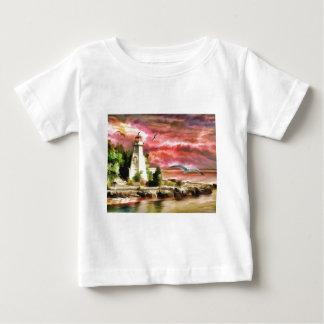 Leuchtturmwassermalerei Baby T-shirt