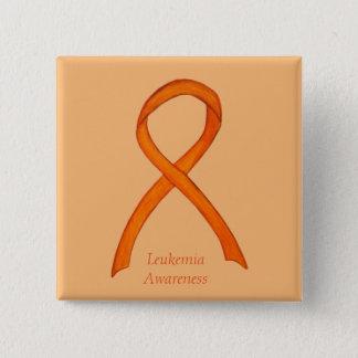 Leukämie-orange Quadratischer Button 5,1 Cm