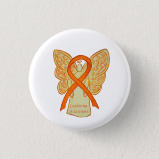 Leukämie-orange Runder Button 3,2 Cm