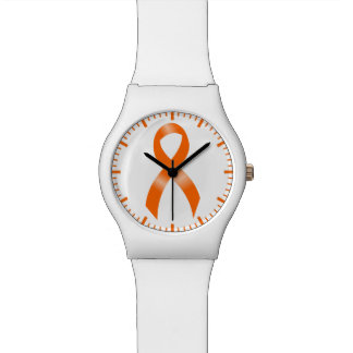 Leukämie-Orangen-Band Armbanduhr