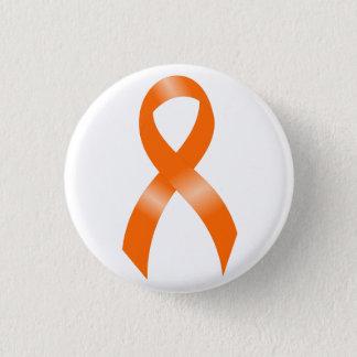 Leukämie-Orangen-Band Runder Button 2,5 Cm