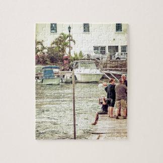 Leute auf dem Pier 1 Puzzle