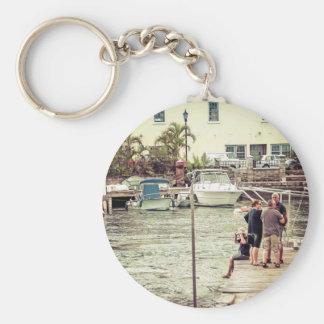 Leute auf dem Pier 1 Schlüsselanhänger