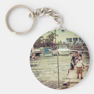 Leute auf dem Pier 2 Schlüsselanhänger