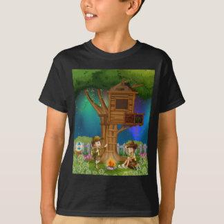 Leute-Camping heraus im Park T-Shirt