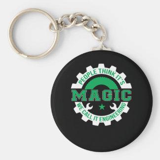 Leute denken Magie, die wir sie Engineerin nennen Schlüsselanhänger