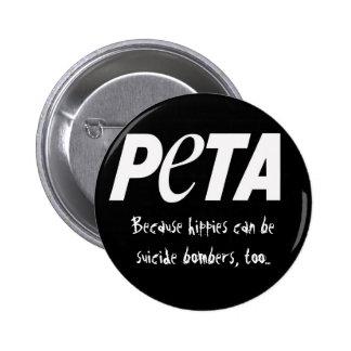 Leute, die geschmackvolle Tiere essen Runder Button 5,7 Cm