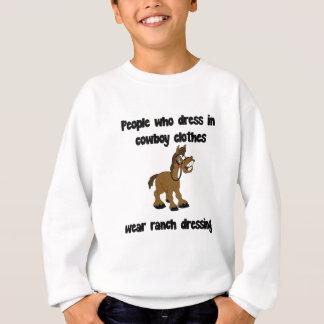 Leute, die im Cowboy ankleiden, kleiden Sweatshirt