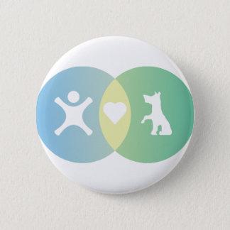 Leute-Herz verfolgt Venn Diagramm Runder Button 5,1 Cm