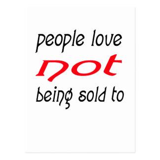 Leute-Liebe, die nicht an verkauft wird Postkarte