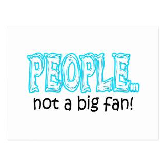 Leute nicht ein großer Fan Postkarte