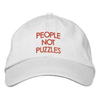 Leute-nicht Puzzlespiele Bestickte Baseballkappe