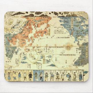 Leute vieler Nationen Ukiyo-e Mousepad