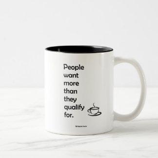 Leute wollen Kaffee-Tasse Zweifarbige Tasse