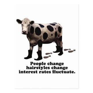 Leuteänderung - streng geheim Kuh Postkarte