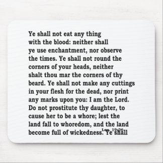 Lev. 19:26 mousepad