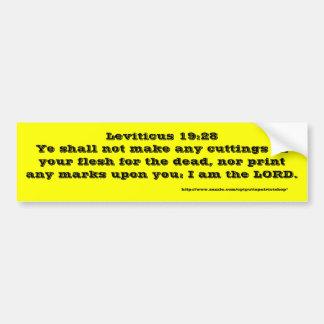 Leviticus 19:28 autoaufkleber