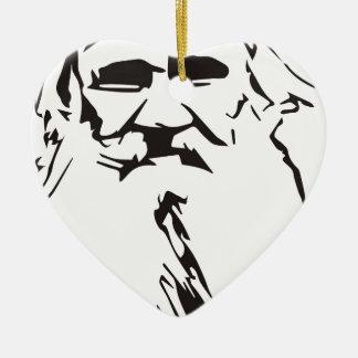 Lew Tolstoi Keramik Herz-Ornament