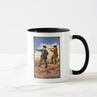 Lewis und Clark, die den Westen erforschen Tasse