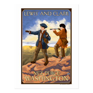 Lewis und Clark - Nez Perce, Washington Postkarte