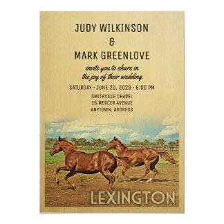 Lexington-Hochzeits-Einladungs-Kentucky-Pferde Karte