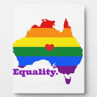 LGBT AUSTRALIEN FOTOPLATTE