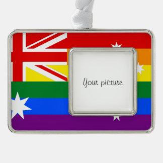 LGBT Australien Rahmen-Ornament Silber