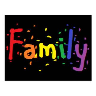 LGBT Familien-Logo Postkarte
