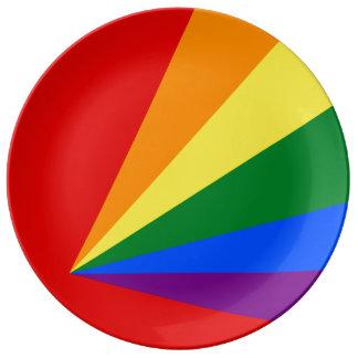 LGBT Farbregenbogen-Flagge Teller Aus Porzellan