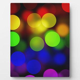 LGBT Flagge mit Blured kreist Effekt ein Fotoplatte